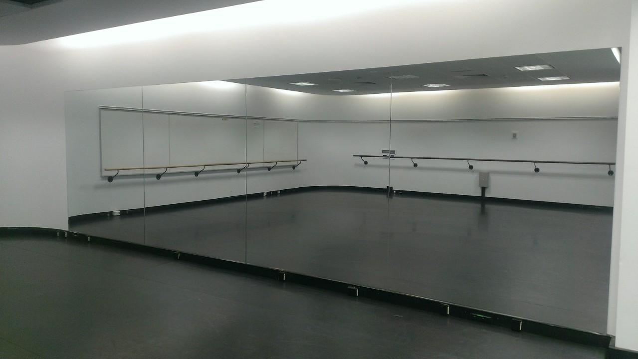 big-frameless-mirror-for-dance-studio-gym-wall-ikea-clock-w