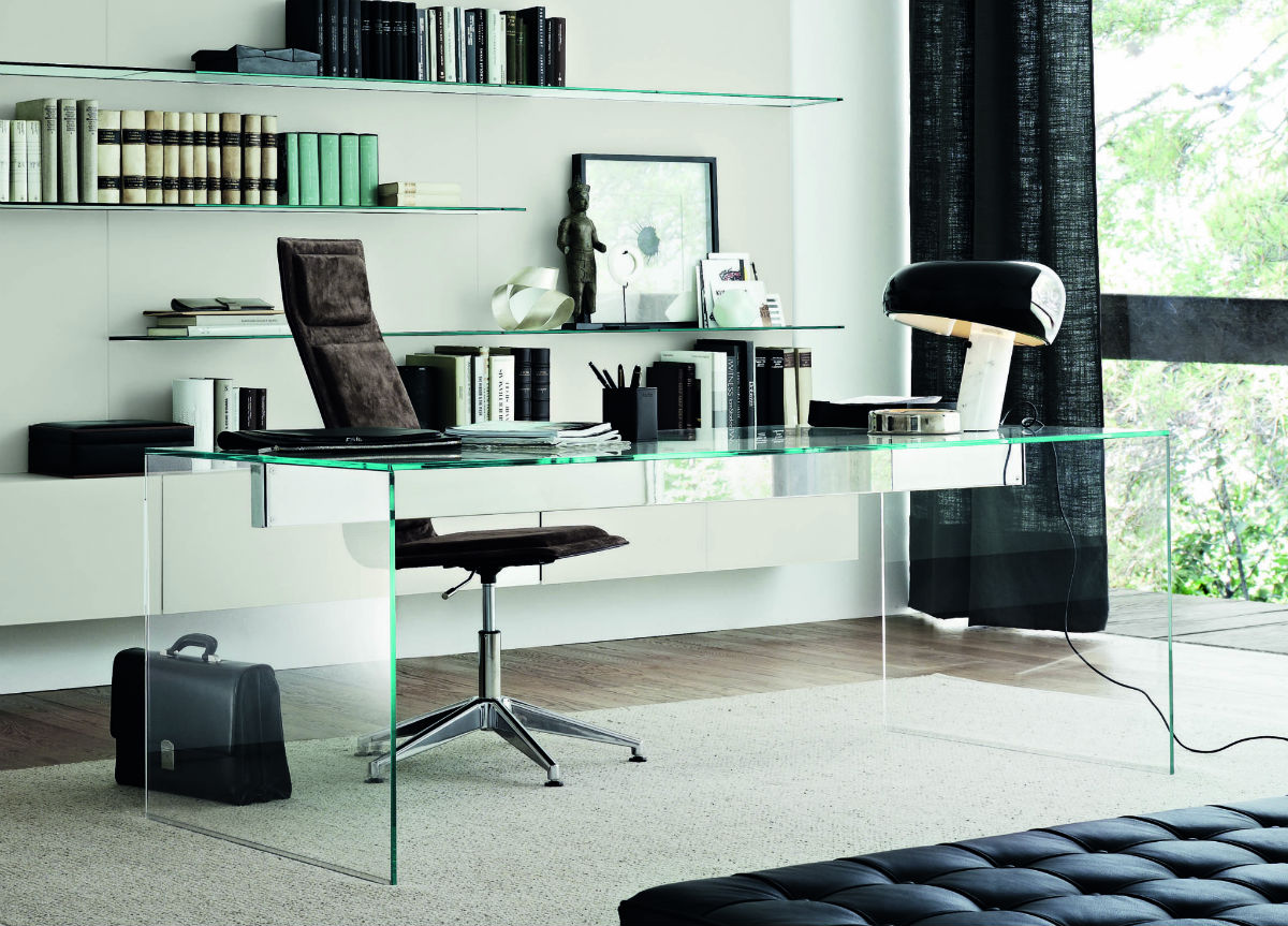 Glass-office-table