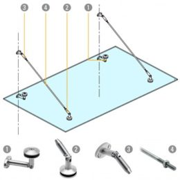 Stainless-fitting-glass