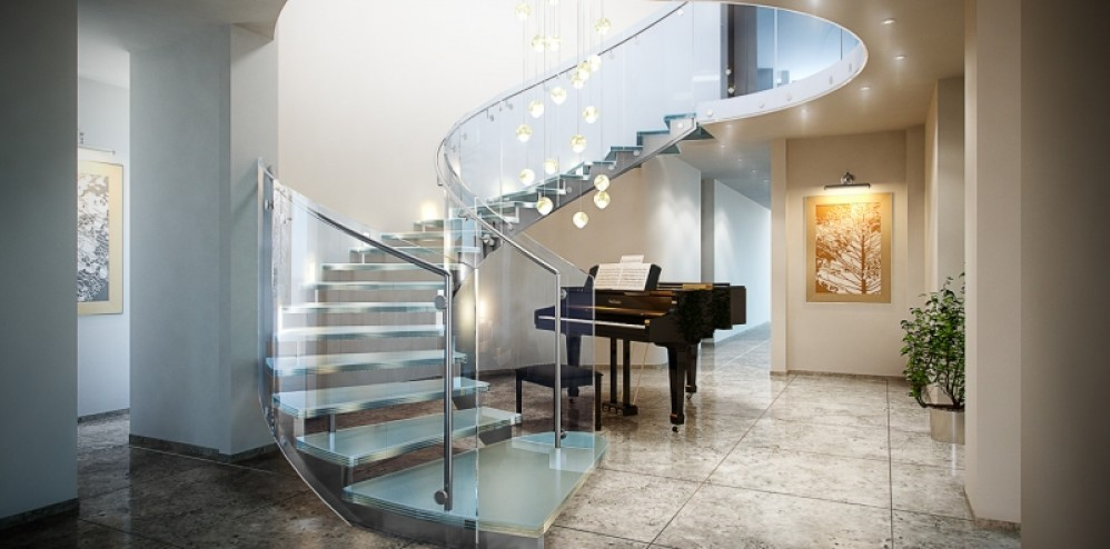 glass-stair