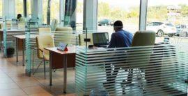 Перегородки стеклянные для офисов и ресторанов