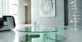 Столы журнальные стеклянные, тумбы из стекла